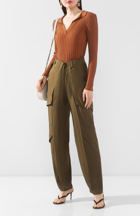 Женские брюки из вискозы BARBARA BUI хаки цвета, арт. V1633VES | Фото 2