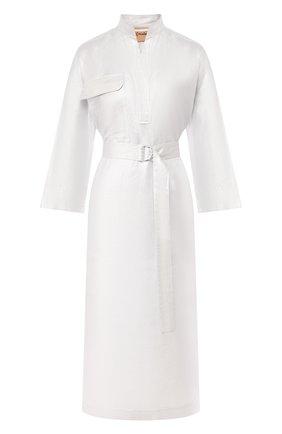 Женское платье из смеси льна и хлопка NUDE серебряного цвета, арт. 1103738/DRESS | Фото 1