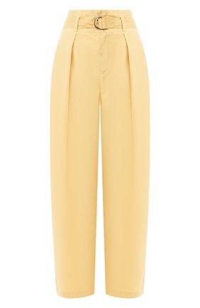 Женские хлопковые брюки NUDE желтого цвета, арт. 1103753/TR0USERS | Фото 1