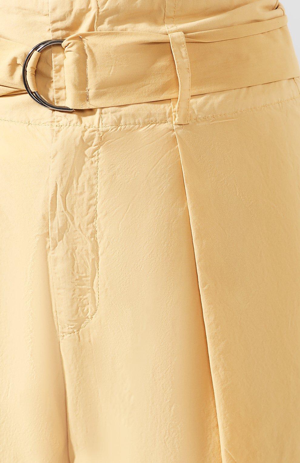 Женские хлопковые брюки NUDE желтого цвета, арт. 1103753/TR0USERS   Фото 5 (Длина (брюки, джинсы): Стандартные; Женское Кросс-КТ: Брюки-одежда; Материал внешний: Хлопок)