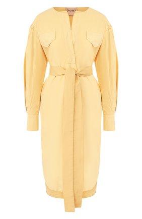 Женское хлопковове платье NUDE желтого цвета, арт. 1103754/DRESS | Фото 1