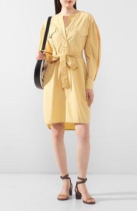Женское хлопковове платье NUDE желтого цвета, арт. 1103754/DRESS | Фото 2