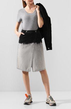 Женская джинсовая юбка NUDE серого цвета, арт. 1103811/SKIRT | Фото 2