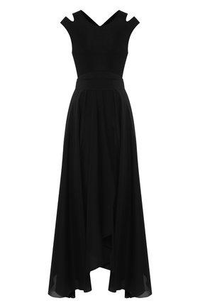 Женское платье из смеси шелка и вискозы PETAR PETROV черного цвета, арт. ALBA S20D5K1 | Фото 1