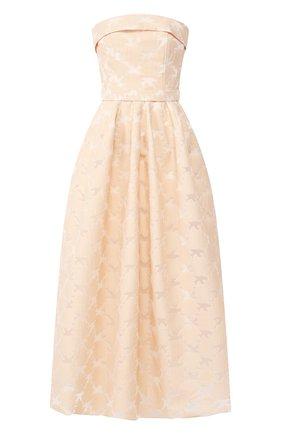 Женское платье-миди TEREKHOV GIRL бежевого цвета, арт. 2DE056/8113.102/S20 | Фото 1