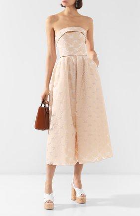 Женское платье-миди TEREKHOV GIRL бежевого цвета, арт. 2DE056/8113.102/S20 | Фото 2