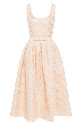 Женское платье-миди TEREKHOV GIRL бежевого цвета, арт. 2DE059/8113.102/S20 | Фото 1