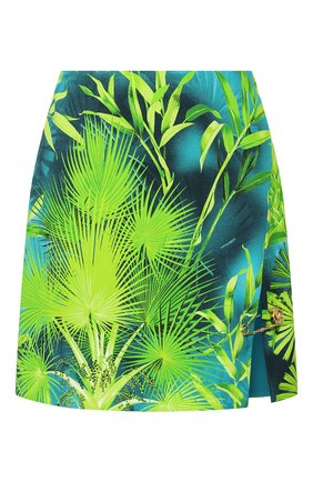 Женская юбка из вискозы VERSACE зеленого цвета, арт. A83920/A234694   Фото 1