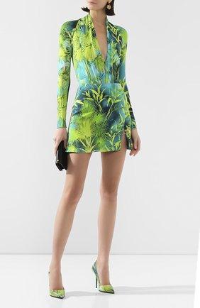 Женская юбка из вискозы VERSACE зеленого цвета, арт. A83920/A234694   Фото 2