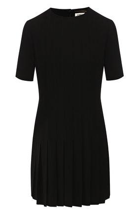 Женское платье из вискозы SAINT LAURENT черного цвета, арт. 613537/Y103W | Фото 1