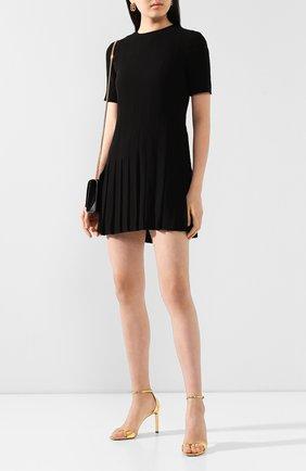 Женское платье из вискозы SAINT LAURENT черного цвета, арт. 613537/Y103W | Фото 2