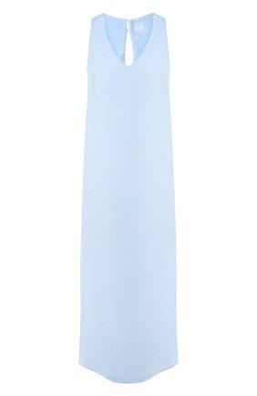 Женское льняное платье 120% LINO голубого цвета, арт. R0W4796/B317/S00 | Фото 1