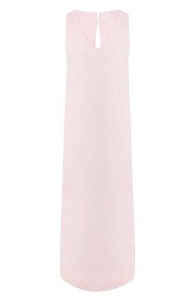 Женское льняное платье 120% LINO розового цвета, арт. R0W4796/B317/S00 | Фото 1