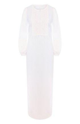 Женское льняное платье 120% LINO белого цвета, арт. R1W40FZ/0115/000 | Фото 1