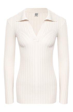 Женская пуловер из вискозы TOTÊME белого цвета, арт. ARRAD0N 202-503-755 | Фото 1