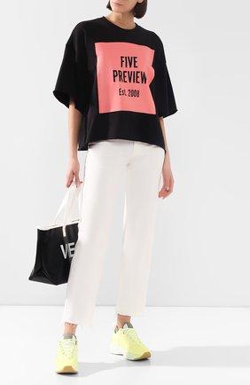 Женская хлопковая футболка 5PREVIEW черного цвета, арт. WPA357 | Фото 2