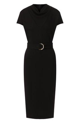 Женское платье из вискозы ST. JOHN черного цвета, арт. K11ZW11 | Фото 1