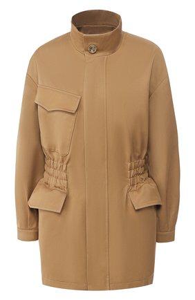 Женская хлопковая куртка TWINS FLORENCE бежевого цвета, арт. TWFPE20GIU0003 | Фото 1