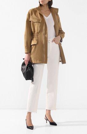 Женская хлопковая куртка TWINS FLORENCE бежевого цвета, арт. TWFPE20GIU0003 | Фото 2