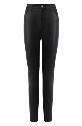 Женские кожаные брюки JITROIS черного цвета, арт. PANTAL0N HIGH AGNEAU STRETCH | Фото 1