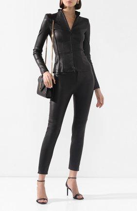 Женские кожаные брюки JITROIS черного цвета, арт. PANTAL0N HIGH AGNEAU STRETCH | Фото 2
