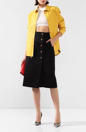 Женская хлопковая юбка ESCADA черного цвета, арт. 5033793 | Фото 2