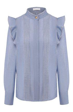 Женская хлопковая рубашка ESCADA SPORT голубого цвета, арт. 5032605 | Фото 1