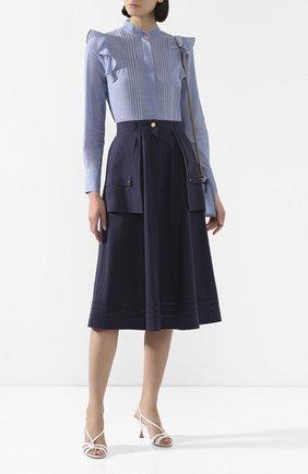 Женская хлопковая рубашка ESCADA SPORT голубого цвета, арт. 5032605 | Фото 2