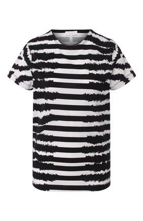 Женская хлопковая футболка ESCADA SPORT черно-белого цвета, арт. 5032714 | Фото 1