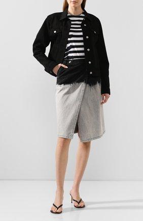 Женская хлопковая футболка ESCADA SPORT черно-белого цвета, арт. 5032714 | Фото 2