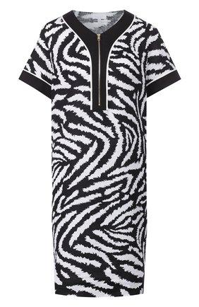 Женское льняное платье ESCADA SPORT черно-белого цвета, арт. 5032750 | Фото 1