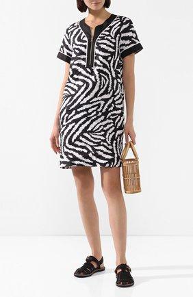 Женское льняное платье ESCADA SPORT черно-белого цвета, арт. 5032750 | Фото 2