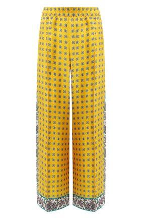 Женские шелковые брюки ESCADA желтого цвета, арт. 5032973 | Фото 1
