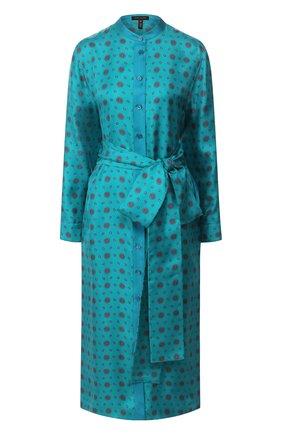 Женское шелковое платье ESCADA бирюзового цвета, арт. 5033011 | Фото 1