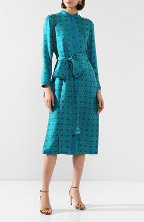 Женское шелковое платье ESCADA бирюзового цвета, арт. 5033011 | Фото 2