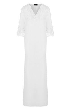 Женское льняная туника DANA PISARRA белого цвета, арт. AMALFI/2054 | Фото 1