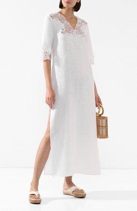 Женское льняная туника DANA PISARRA белого цвета, арт. AMALFI/2054 | Фото 2