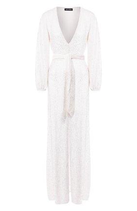 Женское платье-макси RETROFÊTE белого цвета, арт. HL20-2408   Фото 1