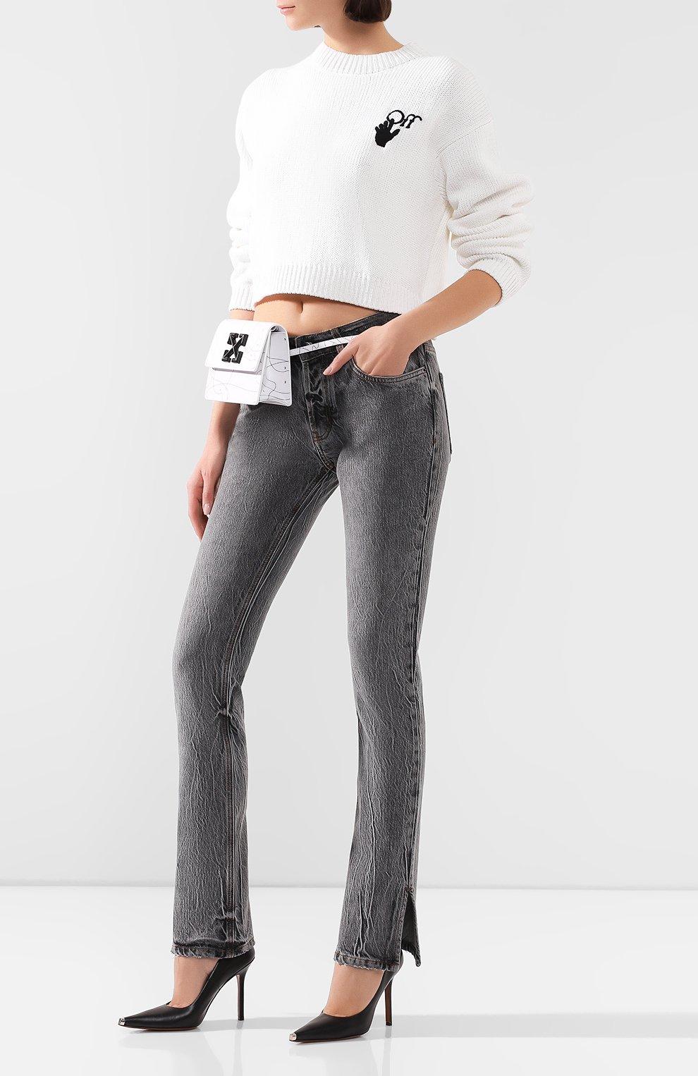 Женские джинсы FILLES A PAPA серого цвета, арт. STEVE L.32 DENIM   Фото 2