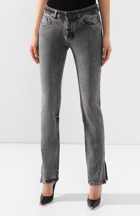 Женские джинсы FILLES A PAPA серого цвета, арт. STEVE L.32 DENIM   Фото 3