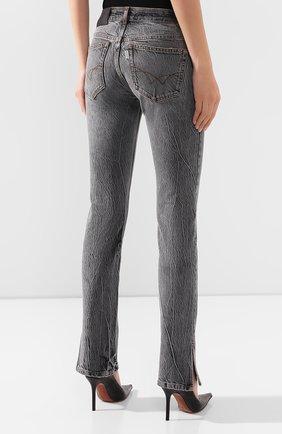 Женские джинсы FILLES A PAPA серого цвета, арт. STEVE L.32 DENIM   Фото 4