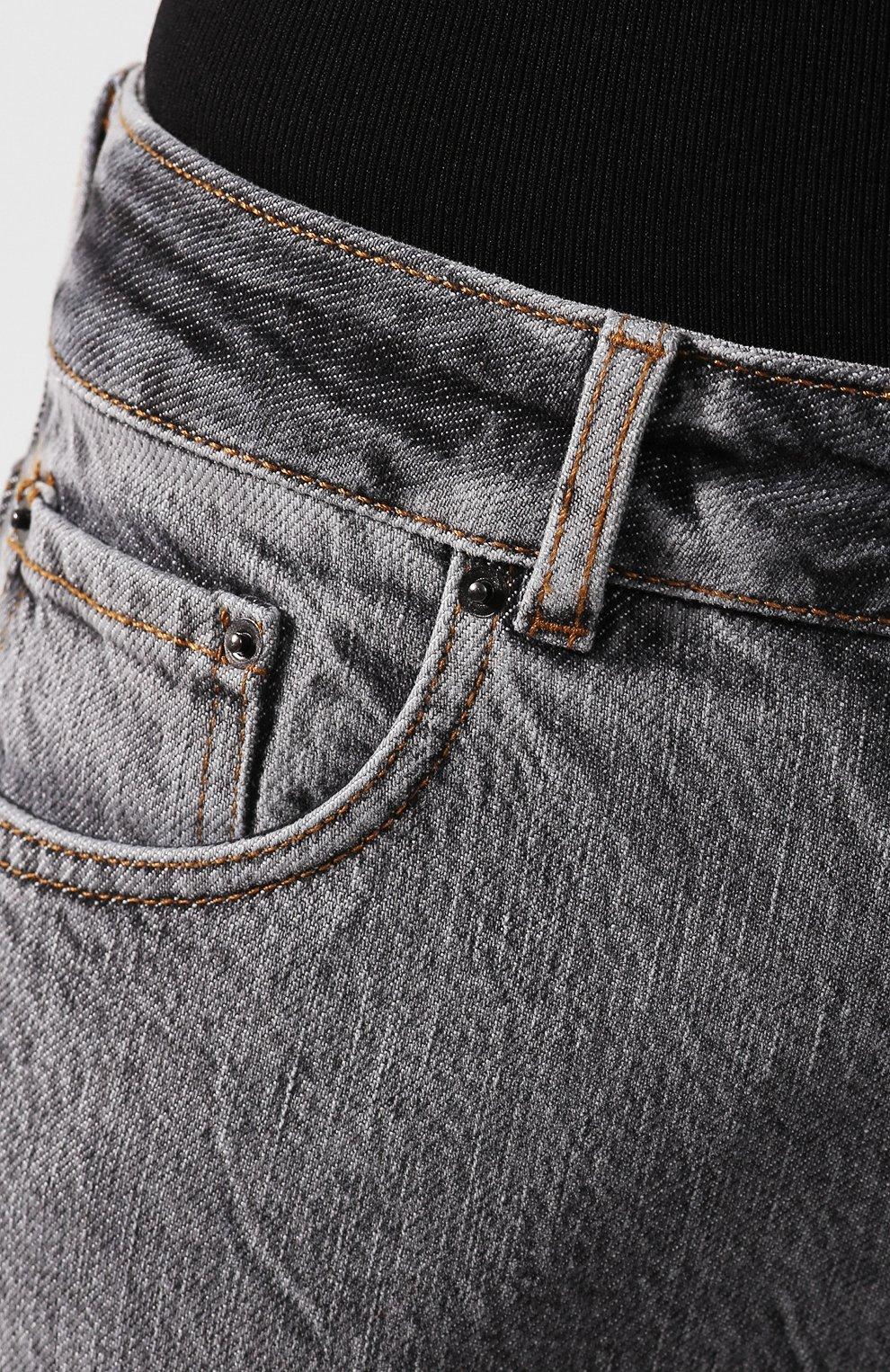 Женские джинсы FILLES A PAPA серого цвета, арт. STEVE L.32 DENIM   Фото 5