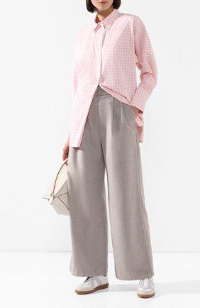 Женские брюки из смеси шерсти и вискозы PEFORGIRLS серого цвета, арт. PE.100.2022.01.30106.045 | Фото 2