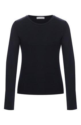 Женская хлопковый пуловер PEFORGIRLS темно-синего цвета, арт. PE.100.2022.01.22002.055 | Фото 1