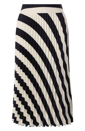 Женская юбка-миди BOSS черно-белого цвета, арт. 50425248   Фото 1