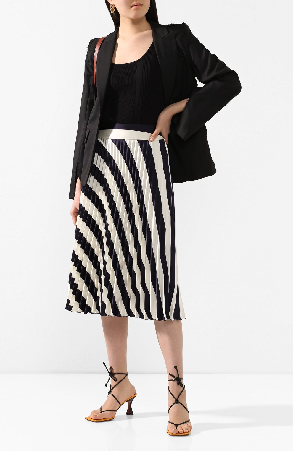Женская юбка-миди BOSS черно-белого цвета, арт. 50425248   Фото 2