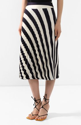 Женская юбка-миди BOSS черно-белого цвета, арт. 50425248   Фото 3