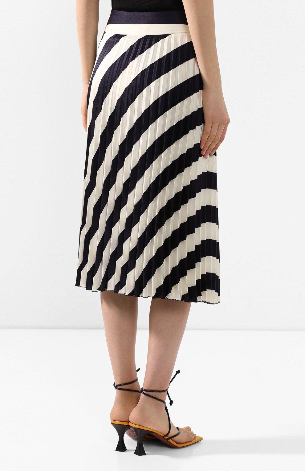 Женская юбка-миди BOSS черно-белого цвета, арт. 50425248   Фото 4