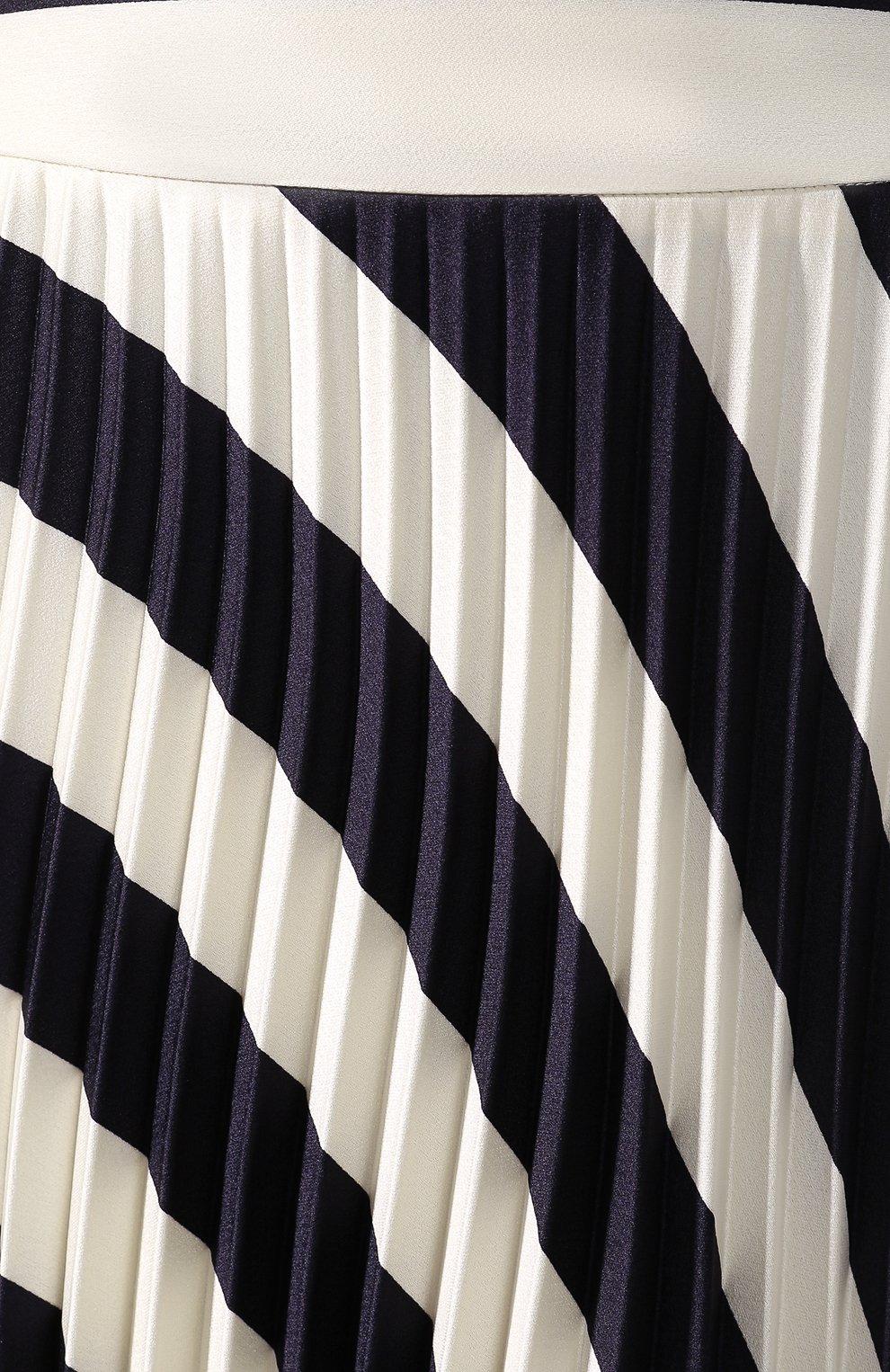 Женская юбка-миди BOSS черно-белого цвета, арт. 50425248   Фото 5