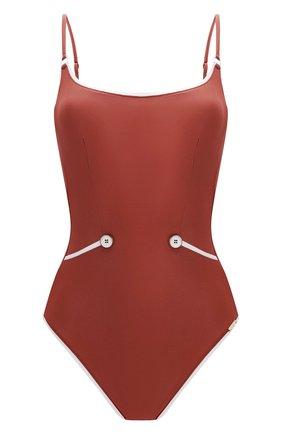 Женский слитный купальник MARYAN MEHLHORN светло-коричневого цвета, арт. 4371 | Фото 1
